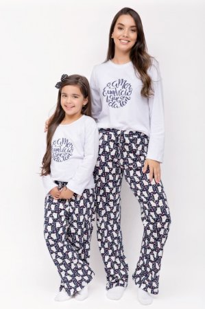 1c768c205 Pijama Longo Blusa Branca - 100% Algodão - analu
