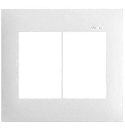 Simon 35 Placa sem Suporte  4 x 4 - 6 Postos Horizontais Branca