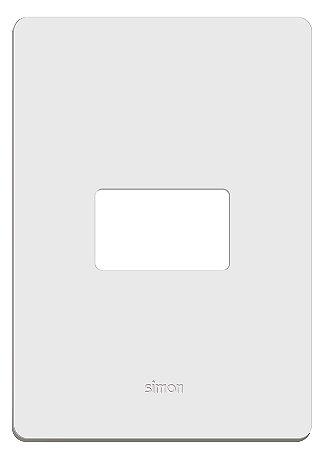 Simon 20 Placa 4 X 2 - 1 Posto Horizontal + Suporte