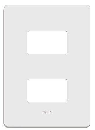 Placa 4 X 2 - 2 Postos Separados + Suporte - Simon 20