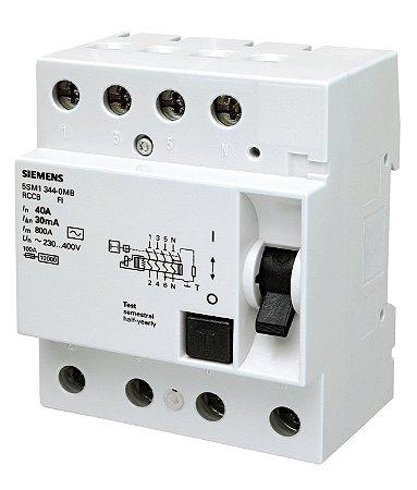 Dispositivo DR Tetrapolar 63A/30MA Siemens