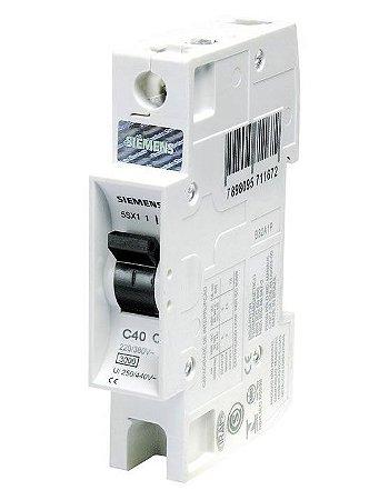 Disjuntor Monopolar Curva C 40A 220/380V 3KA Siemens