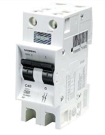 Disjuntor Siemens 5SX1 Bipolar Curva C 40A 220/380V 3KA