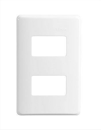 Placa 4x2 - 2 Postos Separados c/ Suporte - Simon 19