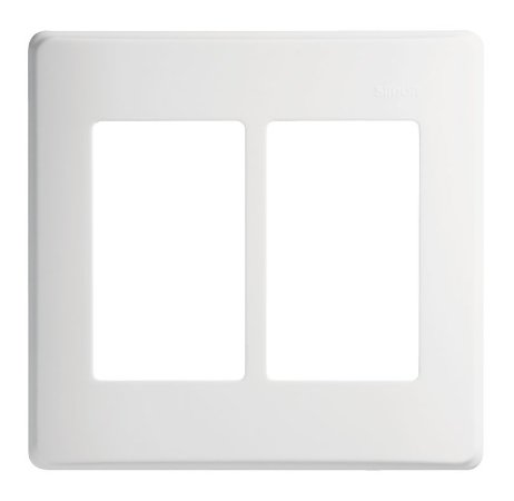 Placa 4x4 - 6 Postos Horizontais c/ Suporte - Simon 19