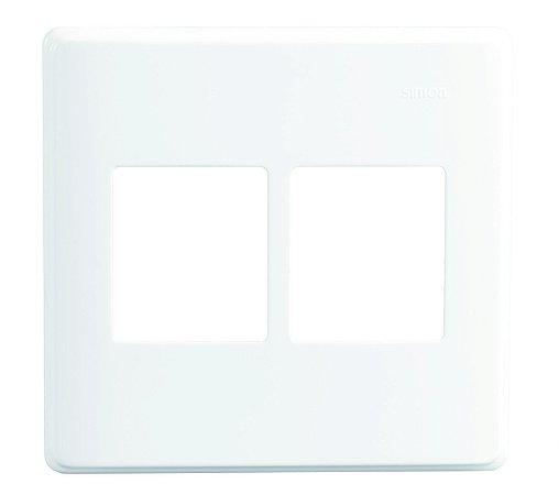 Placa 4x4 - 4 Postos Horizontais c/ Suporte - Simon 19