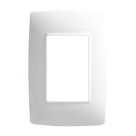 Placa 4 X 2 - 3 Postos Horizontais Branco + Suporte - Simon 30