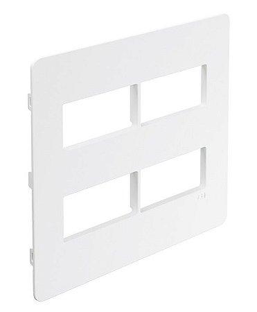 Unno Branco Placa 4X4 - (2+2) Módulos Separados ABB