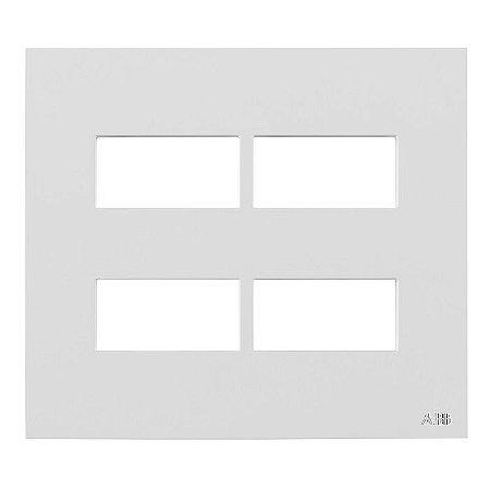 Placa sem Suporte  4x4 - 4 Postos Separados ABB Zenit