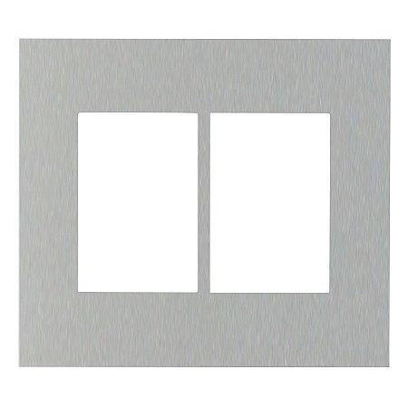 Placa sem Suporte  4x4 - 6 Postos Horizontais ABB Zenit