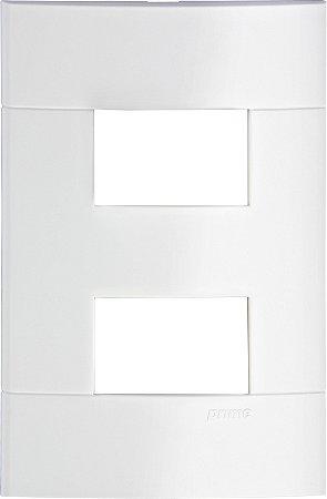 Placa 4x2 2 Postos Separados Schneider Lunare Branca