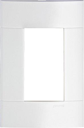 Placa 4x2 3 Postos Schneider Lunare Branca