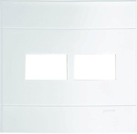 Placa 4x4 2 Postos Separados Schneider Lunare Branca