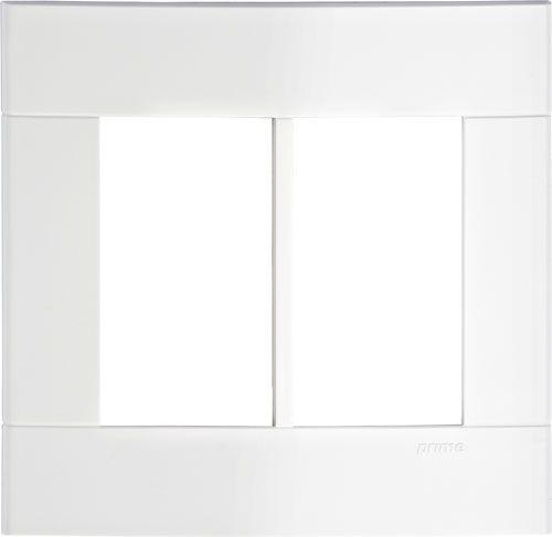 Placa 4x4 6 Postos Schneider Lunare Branca