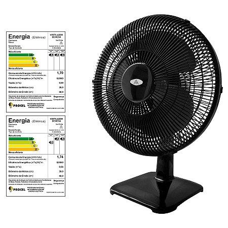624a90d1e Ventilador Oscilante de Mesa Soft 40 cm Preto Venti-Delta - Loja de ...