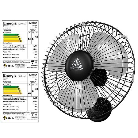 Ventilador Oscilante de Parede 40 cm Branco Venti-Delta