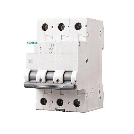 Disjuntor Siemens 5SL1 70A Tripolar Curva C