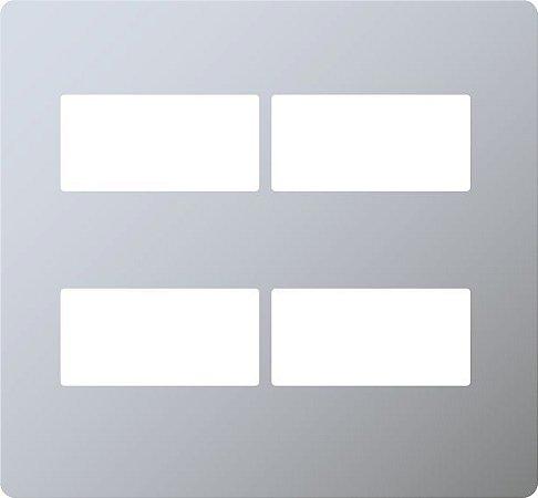 Placa distanciada 4x4 ABB Unno Life 2+2 s/ suporte prata