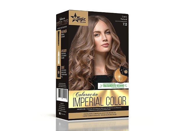 Coloração 7.0 Louro Natural Imperial Color - Kit