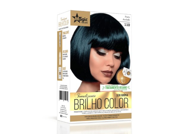 Tonalizante 110 Preto Azulado Brilho Color - Kit