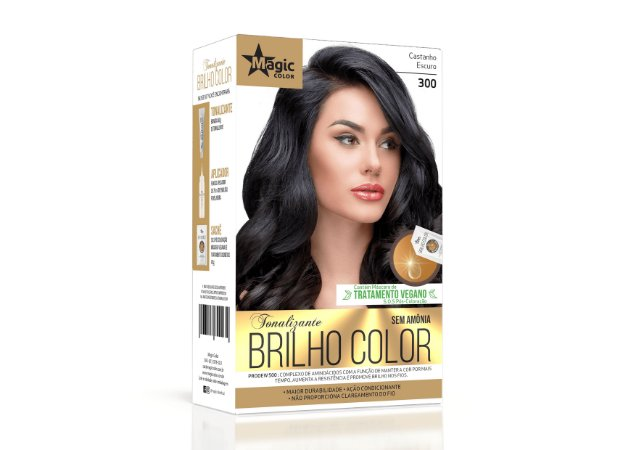 Tonalizante 300 Castanho Escuro Brilho Color - Kit