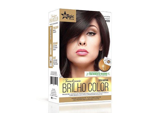 Tonalizante 400 Castanho Brilho Color - Kit