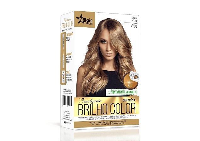 Tonalizante 800 Loiro Claro Brilho Color - Kit