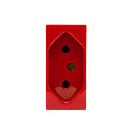 Módulo de Tomada 2P+T 20A ABB Unno vermelha