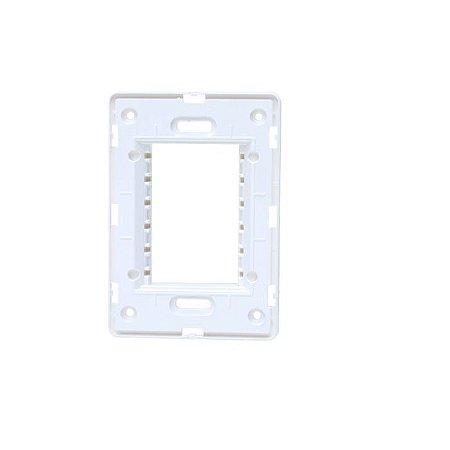Unno Branco Suporte 4x2 ABB -  ( Horizontal )