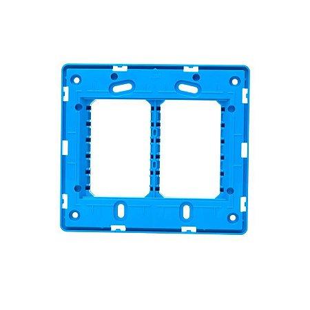 Suporte 4x4 ABB Unno - Azul