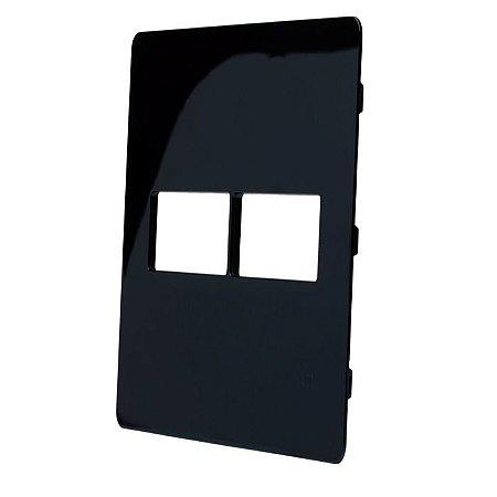Unno life Preto Placa s/suporte 4x4 (1+1) ABB
