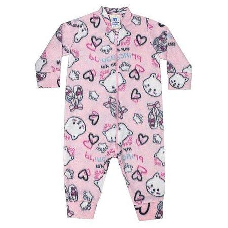 Macacão soft infantil menina 1 a 3 anos