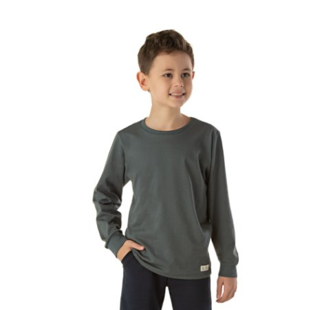Camiseta infantil manga longa masculina