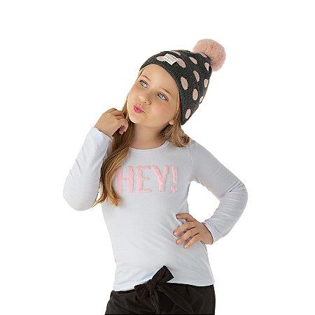 Blusa infantil feminina cotton hey