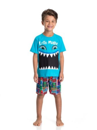 Pijama infantil masculino little monster