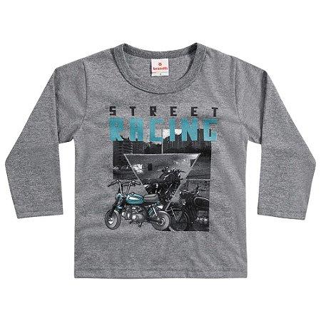 Camiseta ML moto cinza