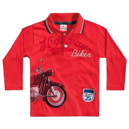 Camiseta polo ML highway biker vermelha
