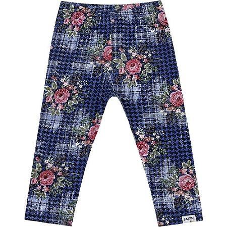 Legging floral azul