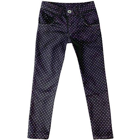 Calça jeans poá