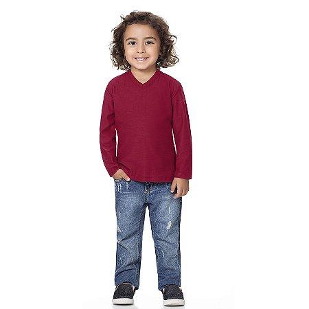 Camiseta bebê básica vermelha