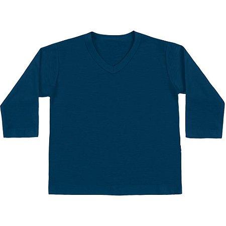 Camiseta Bebê ML básica azul marinho