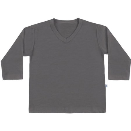 Camiseta bebê básica cinza