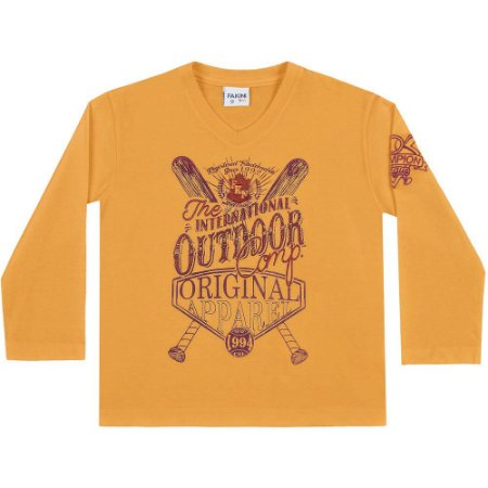 Camiseta ML outdoor amarelo mostarda