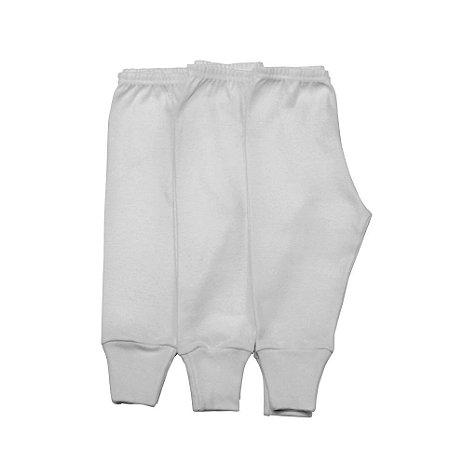 Kit 3 calças pé reversível básica branca