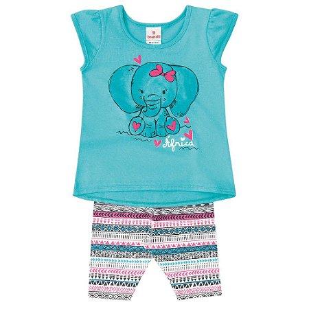Conjunto bebê elefante fofa Brandili