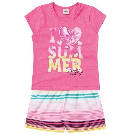 Conjunto Infantil I love Summer