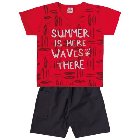 Conjunto infantil summer is here Brandili
