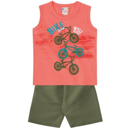 Conjunto infantil bike coral