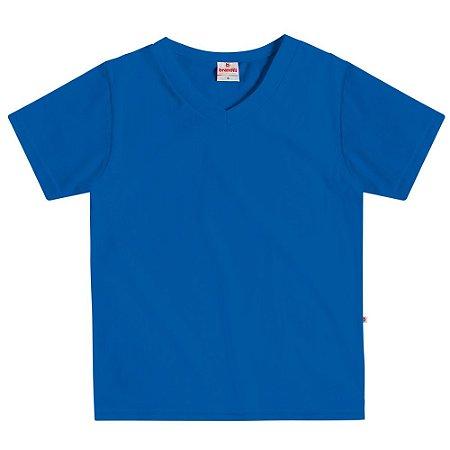 Camiseta infantil básica azul
