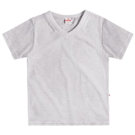 Camiseta infantil básica mescla